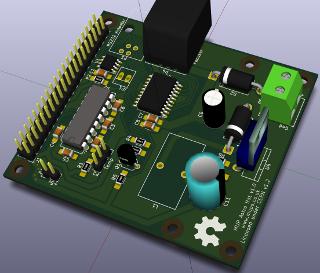 PI3 Astro Hat PCB Render
