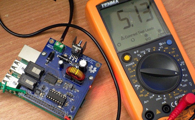Pi running off the hat's switch mode power supply