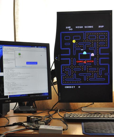 FPGA Arcade running the Pac-Man core