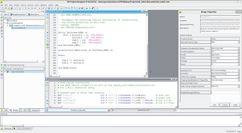 Xilinx ISE IDE and simple VHDL program