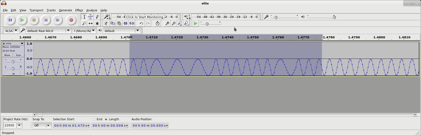 Electron Tape Waveform