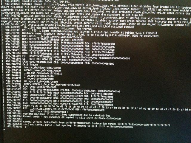 Shutdown Kernel Oops post GPU rebind