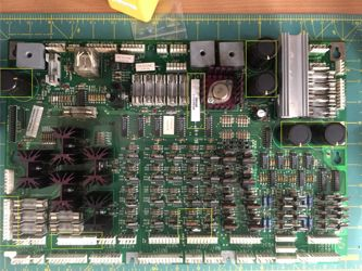 Replaced components - WPC Driver Board.