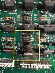 Blown resistors and transistors