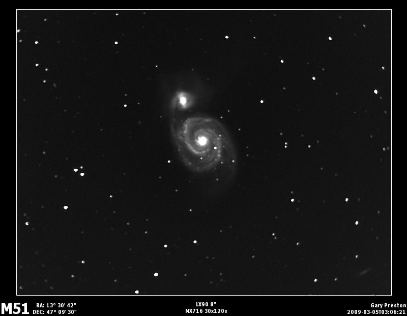 M51 With a high pass filter applied.
